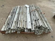 """(1) Pallet with (110) 3/4"""" x 3' Plywood Adaptors 6-12 Hole Pattern. Located in Mt. Pleasant, IA."""