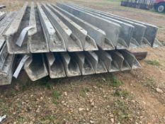 """(8) 4"""" x 4"""" x 9' Nominal ISC Wall-Ties Smooth Aluminum Concrete Forms 6-12 Hole Pattern. Located in"""