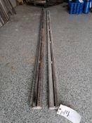 (2) 10' Husqvarna Wall Saw Rails. Located in Wheeling, IL.