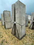 (14) 3' x 9' Wall-Ties Smooth Aluminum Concrete Forms 6-12 Hole Pattern, Basket is included. Located