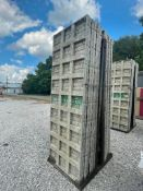 (14) 3' x 9' TUF-N-LITE Textured Brick Aluminum Concrete Forms 6-12 Hole Pattern, Basket is Included