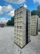 (15) 3' x 9' TUF-N-LITE Textured Brick Aluminum Concrete Forms 6-12 Hole Pattern, Basket is Included