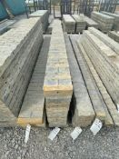 "(10) 8"" x 9' & (1) 9"" x 9' TUF-N-LITE Textured Brick Aluminum Concrete Forms 6-12 Hole Pattern"