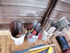 (4) Buckets with Concrete Finishing Tools. Located in Terre Haute, IN.