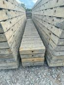 """(4) 10"""" x 9' TUF-N-LITE Textured Brick Aluminum Concrete Forms 6-12 Hole Pattern. Located in Terr"""