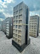 (13) 3' x 9' TUF-N-LITE Textured Brick Aluminum Concrete Forms 6-12 Hole Pattern, Basket is Included