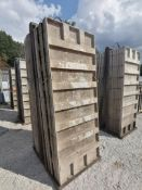 (15) 3' x 8' TUF-N-LITE Smooth Aluminum Concrete Forms 6-12 Hole Pattern, Basket is Included. Locate