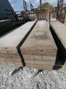 """(8) 16"""" x 8' TUF-N-LITE Smooth Aluminum Concrete Forms 6-12 Hole Pattern. Located in Terre Haute, IN"""