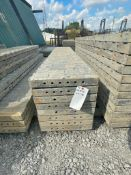 """(8) 18"""" x 9' TUF-N-LITE Textured Brick Aluminum Concrete Forms 6-12 Hole Pattern. Located in Terr"""