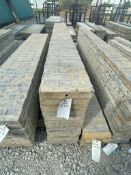 """(12) 12"""" x 9' TUF-N-LITE Textured Brick Aluminum Concrete Forms 6-12 Hole Pattern. Located in Ter"""