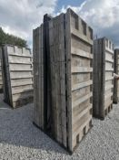 (17) 3' x 8' TUF-N-LITE Smooth Aluminum Concrete Forms 6-12 Hole Pattern, Basket is Included. Locate