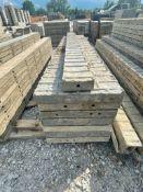 "(7) 18"" x 8' & (1) 6"" x 8' TUF-N-LITE Textured Brick Aluminum Concrete Forms 6-12 Hole Pattern"