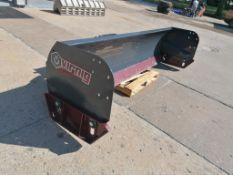 "(1) VIRNIG 120"" Heavy Duty Steel Edge Snow Pusher Attachment, Serial #165988. Located in Mt. Pleasan"