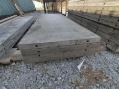 """(4) 32"""" x 8' TUF-N-LITE Smooth Aluminum Concrete Forms 6-12 Hole Pattern. Located in Terre Haute, IN"""