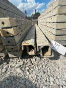 "(4) 4"" x 4"" x 9' Full ISC TUF-N-LITE Textured Brick Aluminum Concrete Forms 6-12 Hole Pattern."