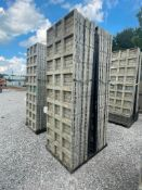 (16) 3' x 9' TUF-N-LITE Textured Brick Aluminum Concrete Forms 6-12 Hole Pattern, Basket is Included