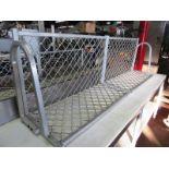 Aluminum Shelving (2) 6' long, (2) 4' long, (1) 3' long