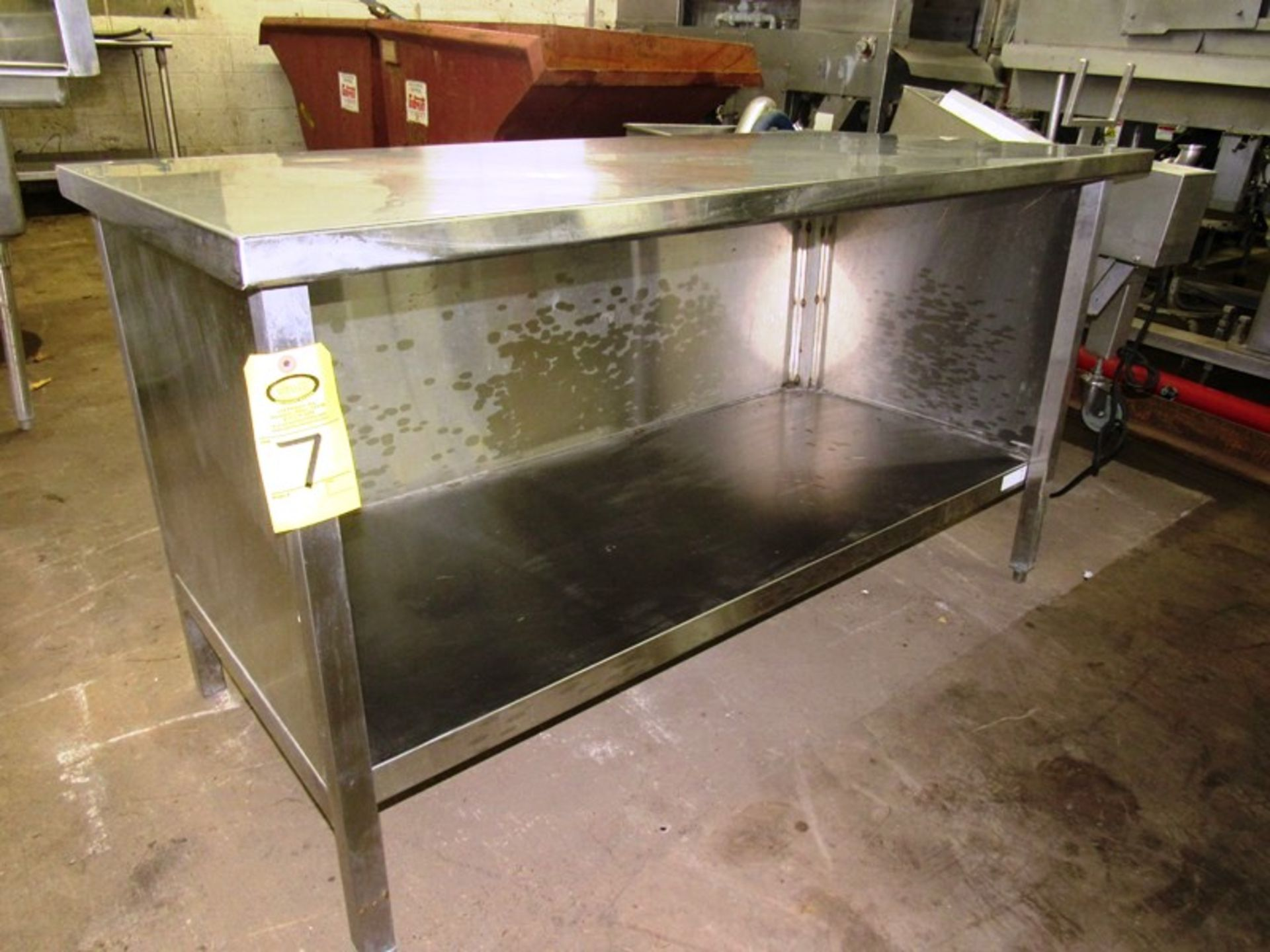 """Stainless Steel Cabinet, 30"""" W X 5' L X 36"""" T"""