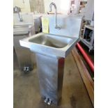 """Stainless Steel Sink, 10"""" W X 14"""" L single faucet, foot pedal activation"""