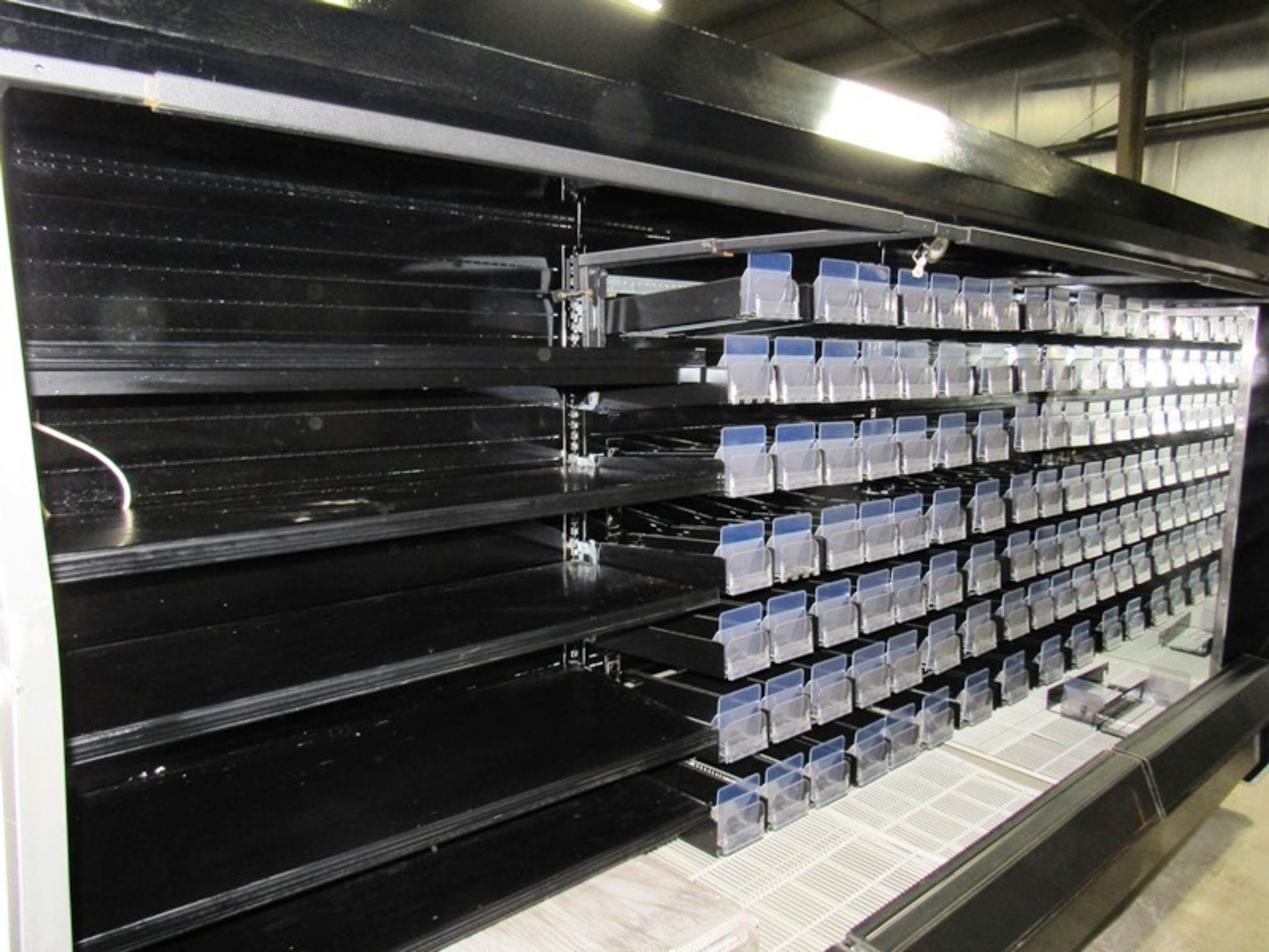 Hussman Refrigerated Reach-In Cooler, 12' long with lights, spring loaded compartments & shelves - Image 2 of 4