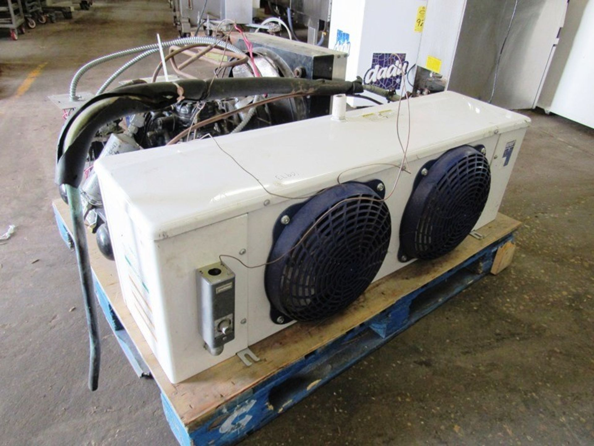 Heatcraft/Larkin Mdl. LCA590AB Evaporator, 2 fan, with Copeland Mdl. Cham0150-1AC-001Compressor, 5 - Image 3 of 6