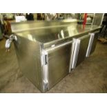 """Nationwide Fabrication Mdl. 3457-50 Stainless Steel Refrigerated Prep Table, 3 doors, 7 shelves, 80"""""""