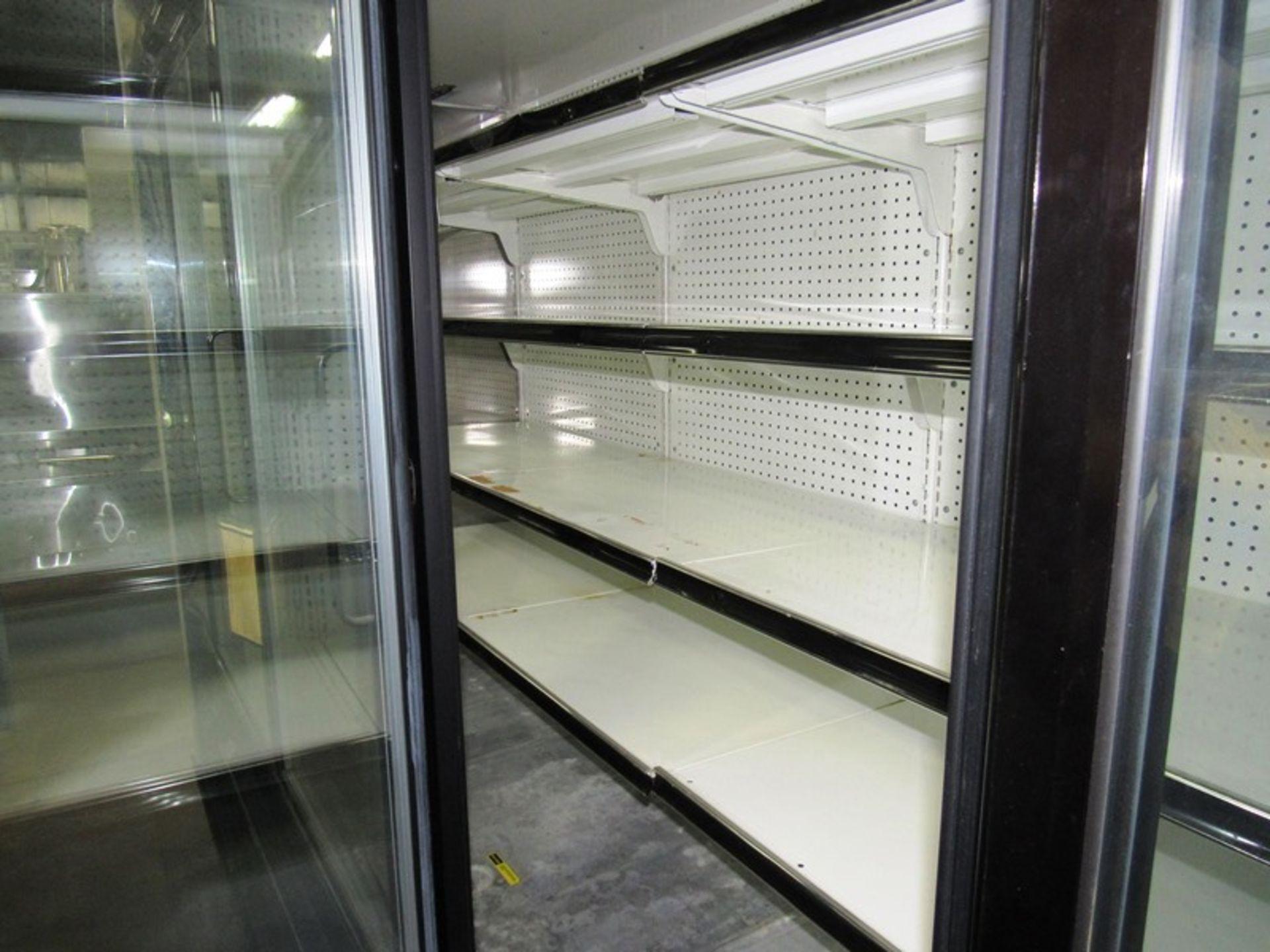 """Kysor-Warren Mdl. LV5HI-4U Display Cooler, 4 doors with inside shelves, 45"""" W X 124"""" L X 83"""" T - Image 3 of 3"""