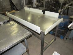 "Stainless Steel Table, 32"" W X 6' L X 32"" T"