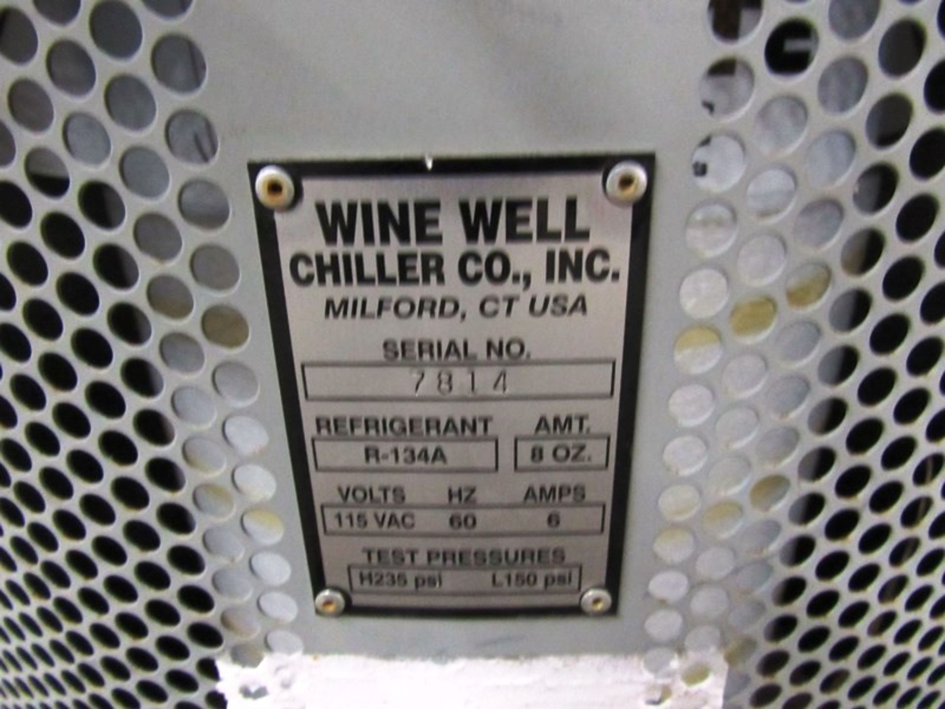 Wine Well Chiller Co. Portable Chilled Water Bath, Ser. #7814, R-134A refrigerant, 115 volts, tested - Image 6 of 6