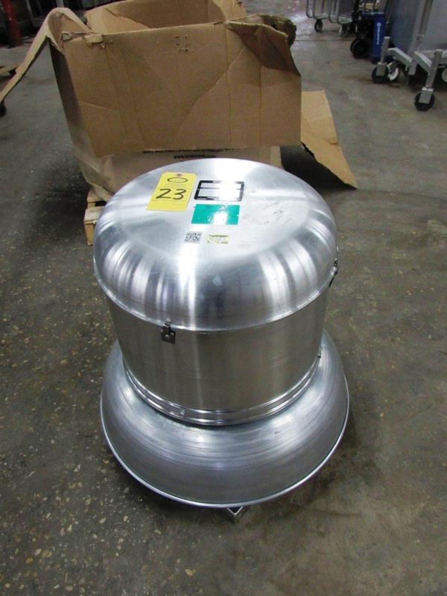 Cook Mdl. 120ACE120C13D Exhaust Fan, Ser. #012SG32092/01/0001801, H.P.0.250, 115 volts, ENCL:ODP,
