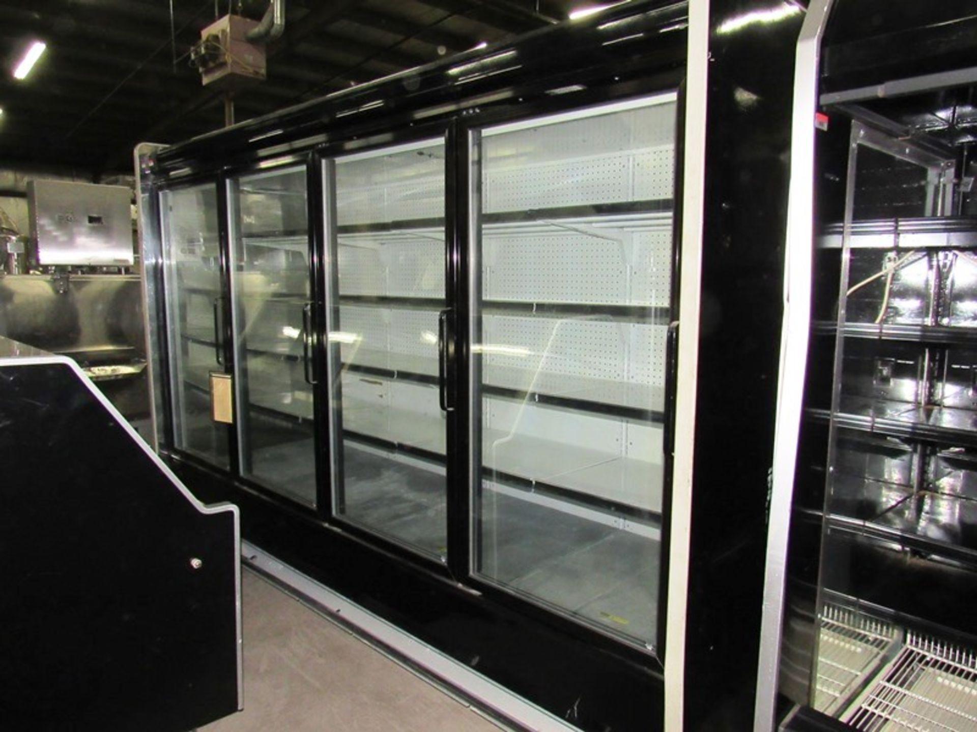 """Kysor-Warren Mdl. LV5HI-4U Display Cooler, 4 doors with inside shelves, 45"""" W X 124"""" L X 83"""" T - Image 2 of 3"""