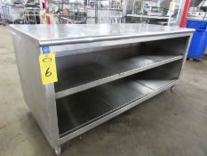 "Stainless Steel Cabinet, 30"" W X 6' L X 36"" T"