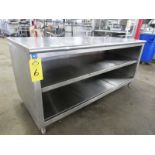 """Stainless Steel Cabinet, 30"""" W X 6' L X 36"""" T"""