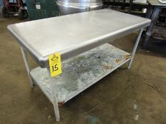 "Stainless Steel Table, 30"" W X 5' L X 33"" T"