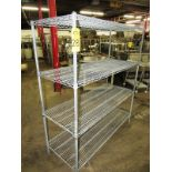 "Metro Rack, 24"" W X 5' L X 68"" T, 4-shelves"