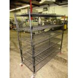 "Portable Metro Rack, 24"" W X 5' L X 5' T, 6-shelves"