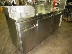 "Sani-Metal Mdl. RST-720 Stainless Steel Refrigerated Prep Table, 24"" wide X 83"" long X 36"" tall, 2"