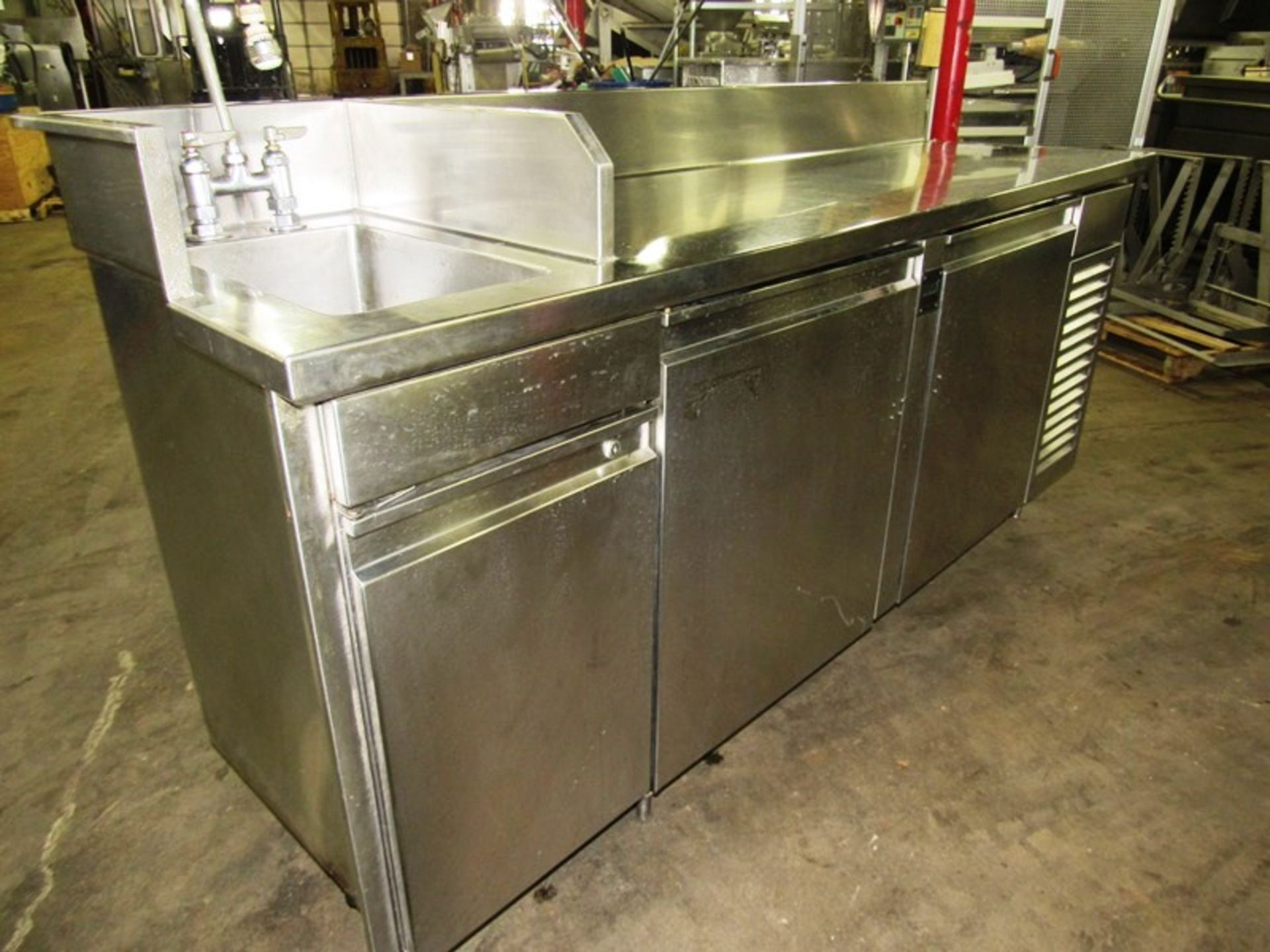 """Sani-Metal Mdl. RST-720 Stainless Steel Refrigerated Prep Table, 24"""" wide X 83"""" long X 36"""" tall, 2"""