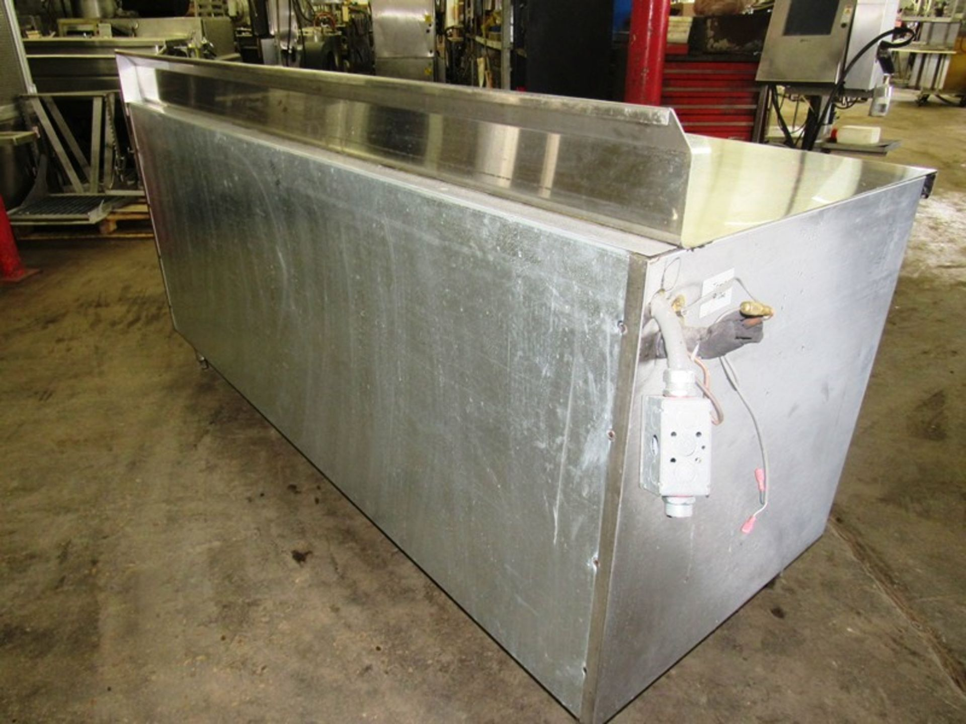 "Nationwide Fabrication Mdl. 3457-50 Stainless Steel Refrigerated Prep Table, 3 doors, 7 shelves, 80"" - Image 3 of 7"