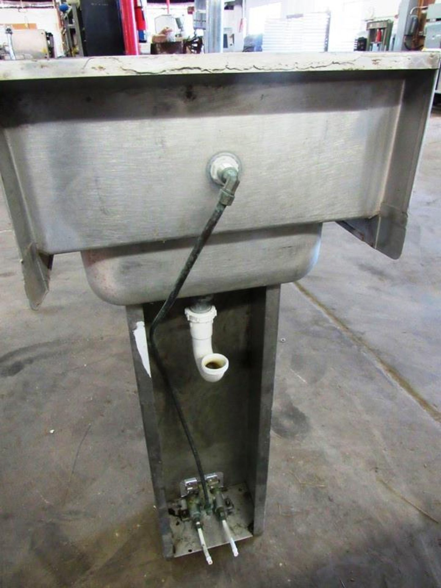 "Stainless Steel Sink, 10"" W X 14"" L single faucet, foot pedal activation - Image 2 of 2"