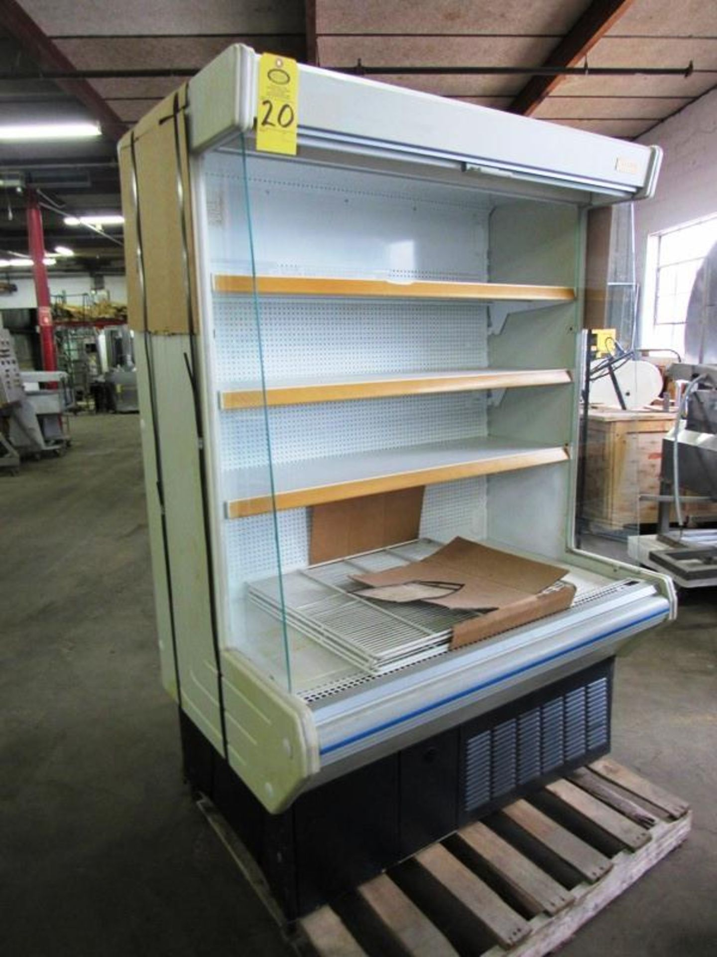 """Lowe Mdl. ML-13-BLX-2 Refrigerated Merchandizer with screen, 51"""" W X 75"""" T X 30"""" D, tested, not"""