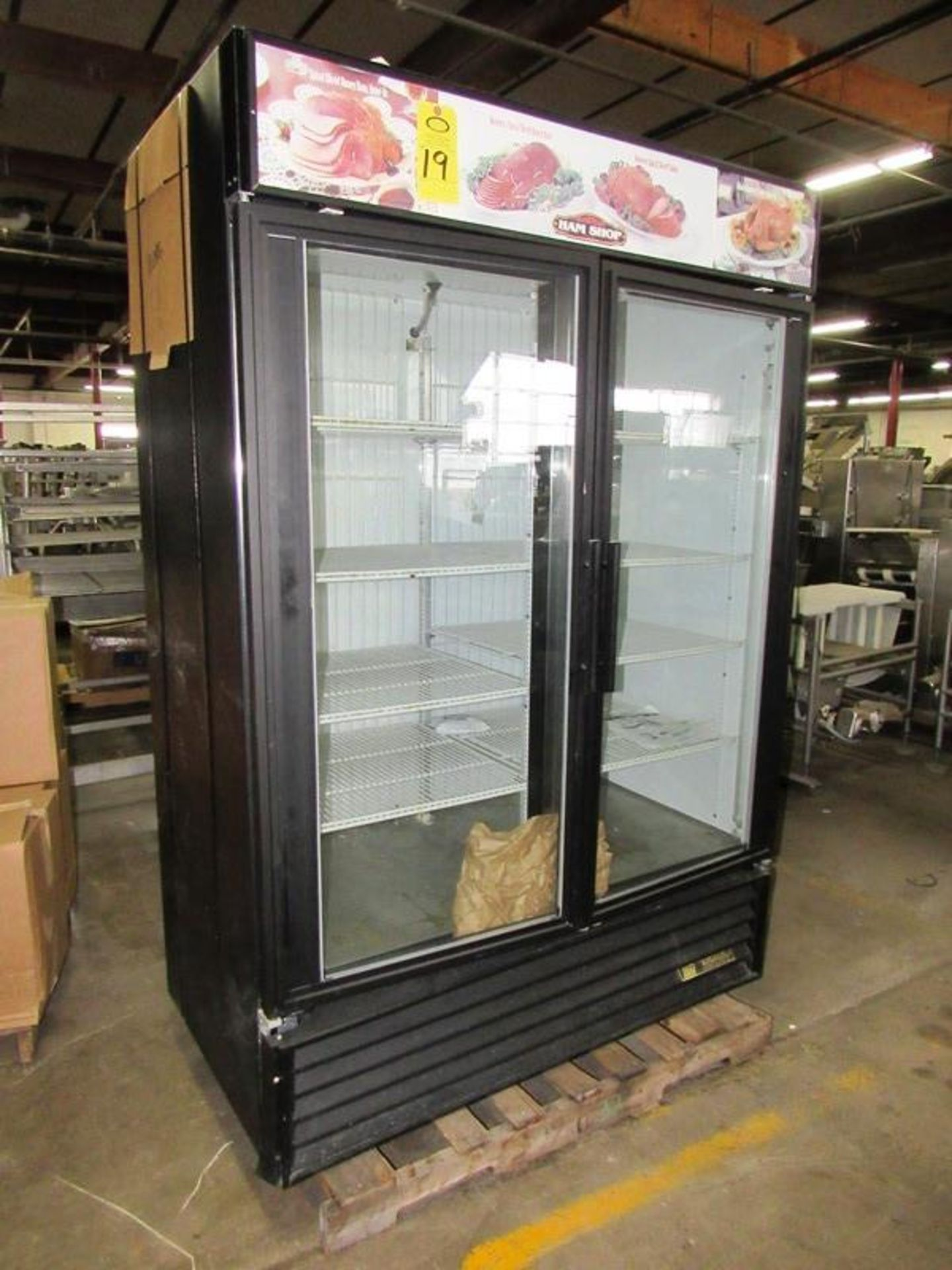 "True Mdl. GDM-49 Freezer, 49 cu. ft., double door, 8 shelves, 54 1/8"" L X 29 7/8"" D X 78 5/8"" T, 1/2"