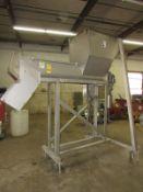 "MTC Mdl. MTC12-08 Portable Stainless Steel Horizontal Screw Conveyor, 10"" Dia. X 6' L stainless"