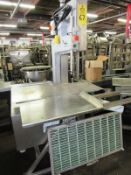 AEW Mdl. 400 Bandsaw, aluminum frame, stainless steel head & table, platform attached