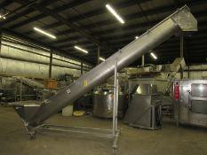 "Weiler Stainless Steel Portable Screw Conveyor, 16"" Dia. X 18' L screw, 36"" W X 30"" L X 18"" D"