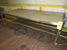 "Stainless Steel Table, 44"" W X 92"" L X 35"" T (Required Rigging Fee: $50 Contact Norm Pavlish at"