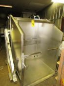 FPEC Mdl. HLD725 Stainless Steel Vat Dumper, 4' W X 4' D carriage, dual hydraulic cylinders with