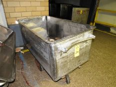 "Stainless Steel Meat Truck, 29"" wide x 58"" long x 24"" deep (Required Rigging Fee: $10 Contact Norm"