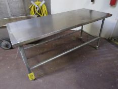 "Lot (1) Stainless Steel Table, 30"" W X 6' L, (1) 30"" W X 8' L (Required Rigging Fee: $20 Contact"