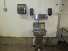 Lot Stainless Steel Sink, foot pedal activated, soap dispenser & towel dispenser (Required Rigging